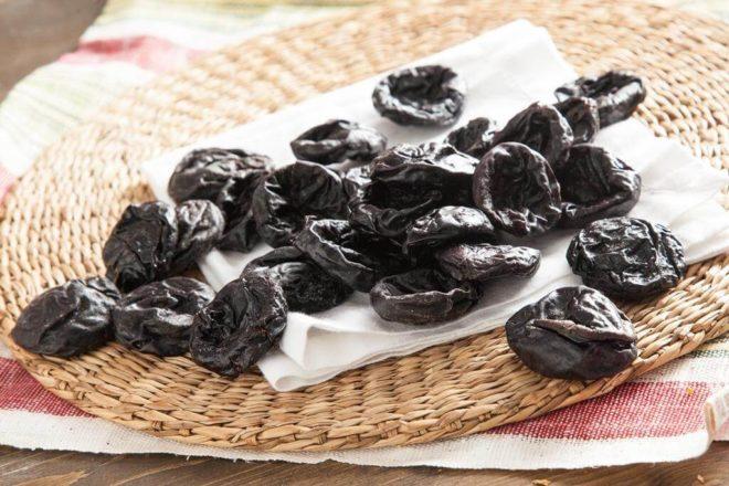 Калорийность и пищевая ценность чернослива, таблица