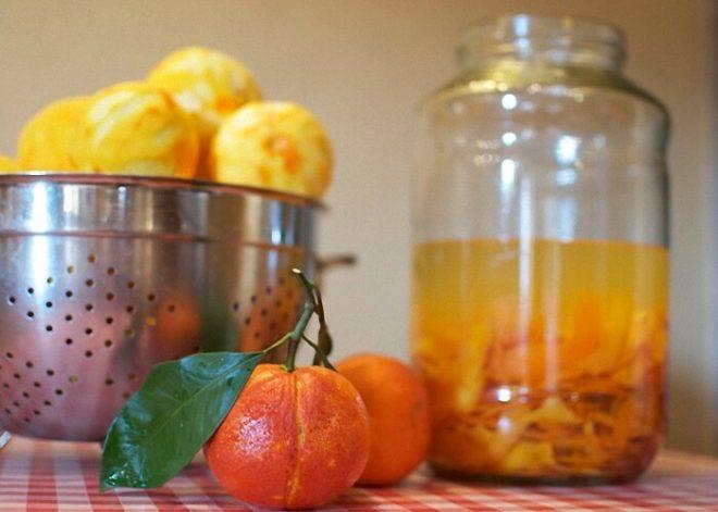 Настойка на мандаринах с корицей