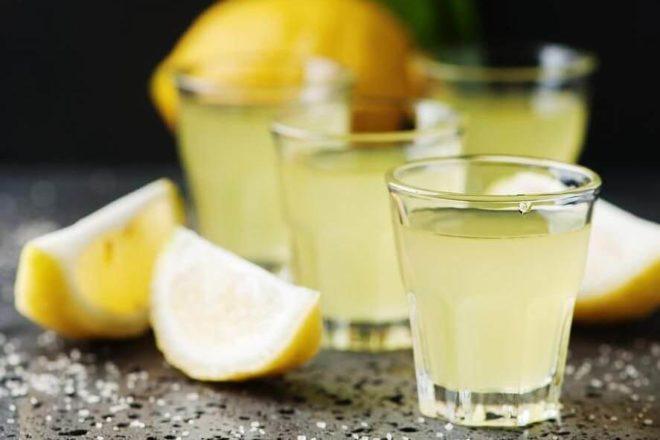 Мятная настойка на лимоне