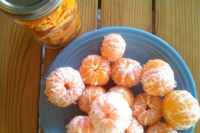 Настойка на мякоти мандаринов